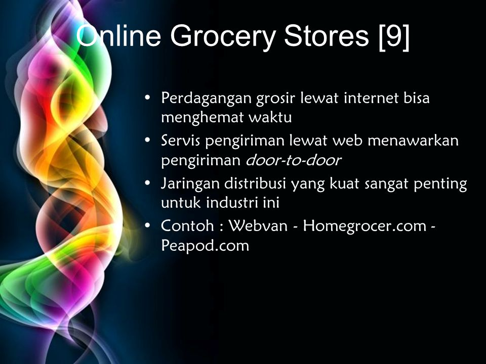 Online Grocery Stores [9]